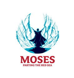moses parting red sea vector image