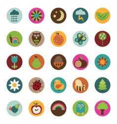 nature badges vector image