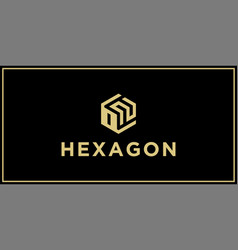 on hexagon logo design inspiration vector image