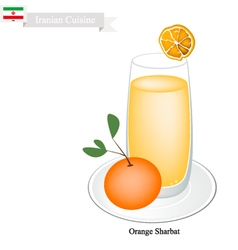 Orange Sharbat or Iranian Drink From Orange vector image