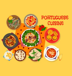 portuguese cuisine lunch icon for menu design vector image