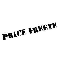 Price freeze rubber stamp vector