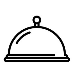 restaurant tray icon outline style vector image