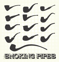 Retro Smoking Pipes vector image
