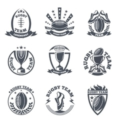 Rugby team badges and logos vector