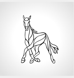 running horse abstract silhouette eps10 vector image