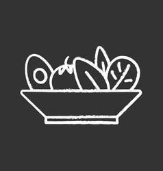 Salad chalk icon vector