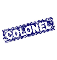 Scratched colonel framed rounded rectangle stamp vector