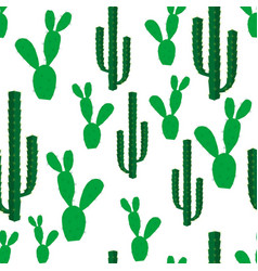 seamless backgrounds with cactus flowers vector image