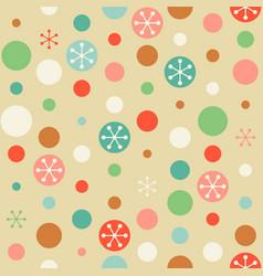 seamless pattern circle vector image