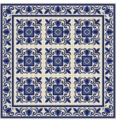 Seamless pattern from tiles and border vector