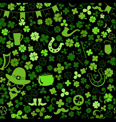 seamless pattern on st patricks day vector image
