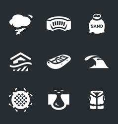 set flood icons vector image