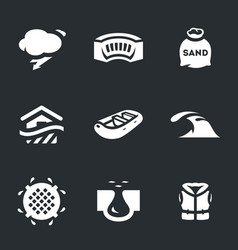 Set of flood icons vector