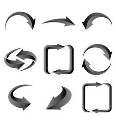 Set of gray arrows vector image