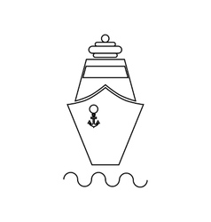 Ship icon in outline style vector