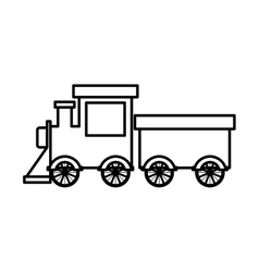 Silhouette train toy flat icon vector
