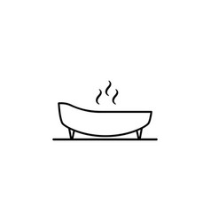 Spa bed massage outline icon signs and symbols vector