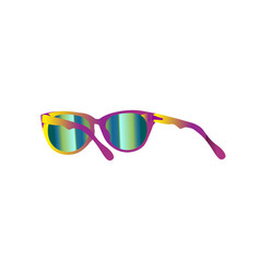 summer with sunglasses isolated eps vector image