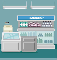supermaket store counter desk vector image