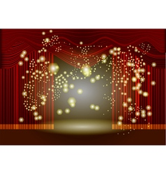 Theatre stage curtain vector