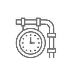 train station clock railroad platform time line vector image