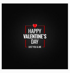 valentines day logo design background vector image