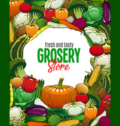 vegetarian food vegetables grocery store veggies vector image