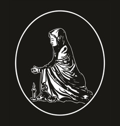 virgin mary praying vector image