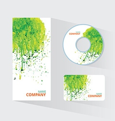 Watercolor corporate identity template with sketch vector image
