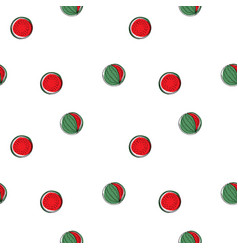 watermelon pattern seamless background vector image