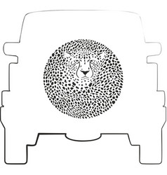 Wheel cover - cheetah vector