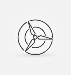 wind energy round icon vector image