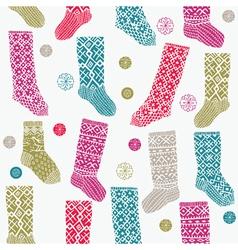 woollen socks vector image