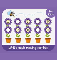 Write each missing number vector