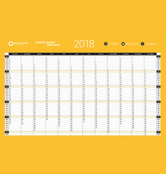 Yearly wall calendar planner template for 2017 vector