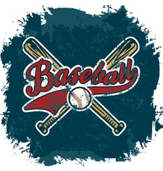 baseball crack vector image