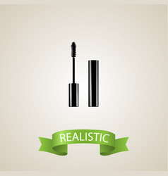realistic mascara element of vector image vector image