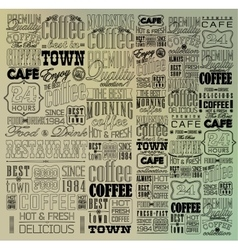 Set Of Vintage Retro Coffee vector image