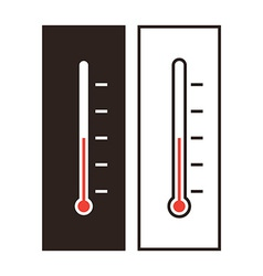 Thermometer icon set vector image vector image
