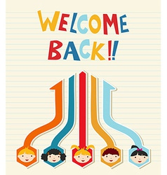 Welcome back to School student network vector image vector image