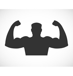 Gym design and street workout icon vector image vector image