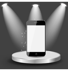 Mobile Phone on Shelve vector image vector image