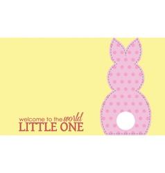 Single girl rabbit wording vector image