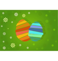 two nice easter egg vector image