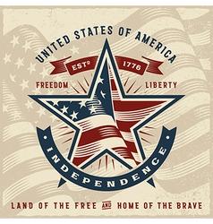 Vintage USA Independence Label vector image