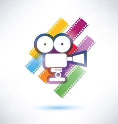 film and camera icon vector image