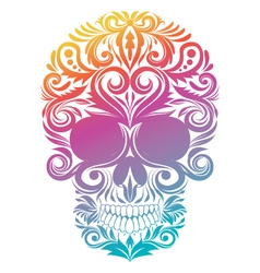 Floral Decorative Skull vector image vector image
