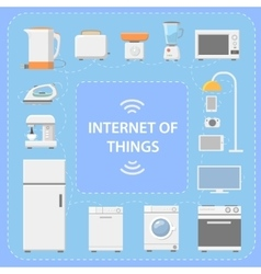 IOT Internet of Things Innovative technology vector image