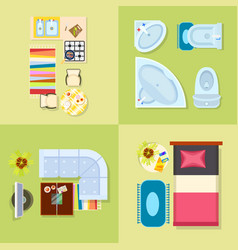kitchen and bathroom design vector image